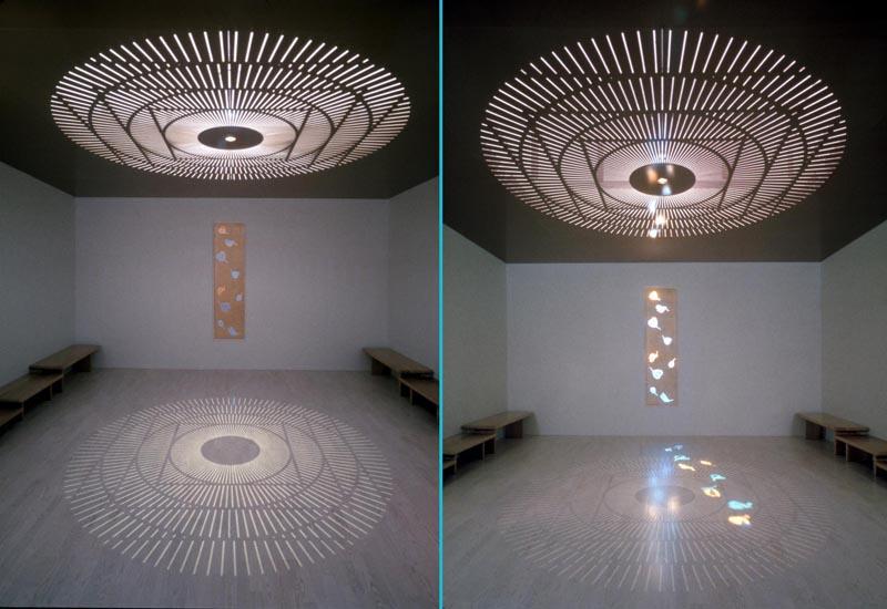 Installation of artwork by Jim Hirschfield