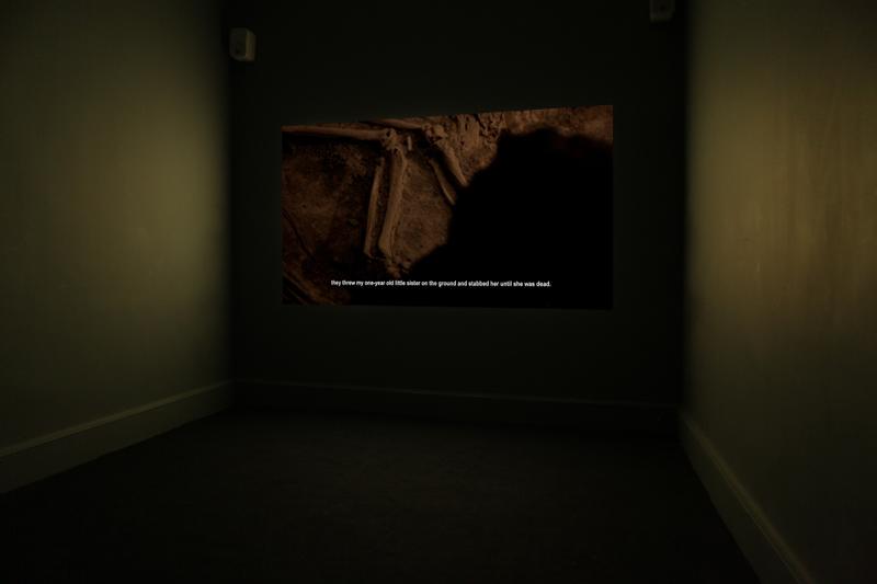 Installation of video art by Hong-An Truong
