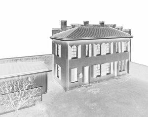 Art photograph of Slave Quarters at Bellamy Mansion