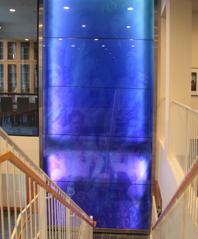 Installation of an artwork by Jim Hirschfield