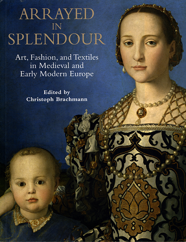 Front book cover for Arrayed in Splendor.