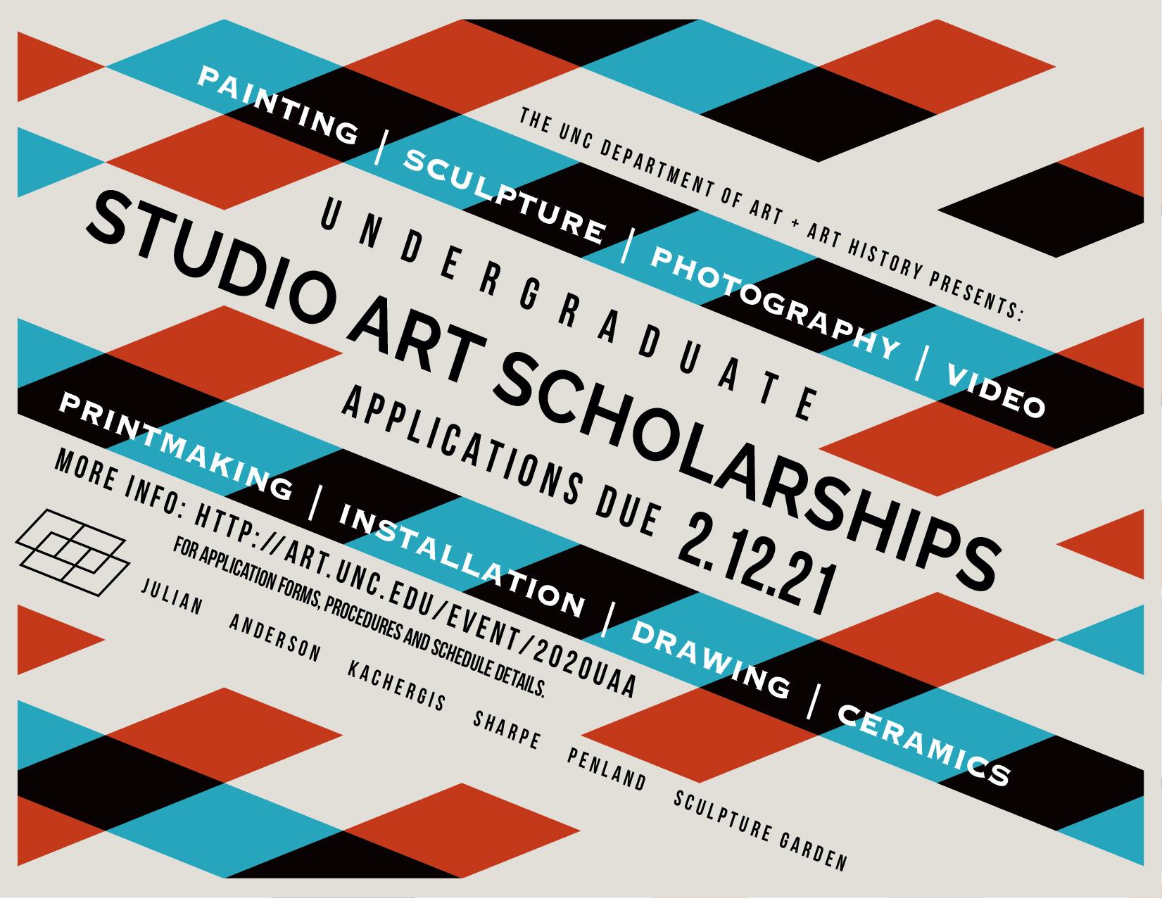 Undergraduate Studio Art Scholarships Applications due: 2-12-21