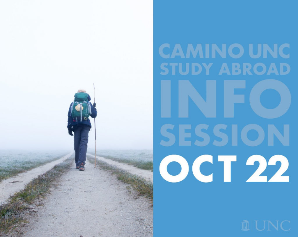 Graphic for Camino UNC Study Abroad Info Session October 22