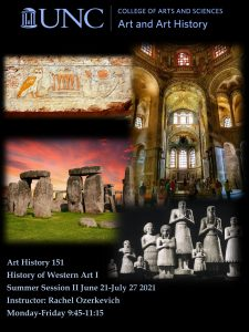 Flyer for 2021 Summer School Course ARTH 151