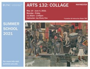 Flyer for 2021 Maymester Course ARTS 132