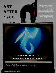 Flyer for 2021 Summer Session Course ARTH 285