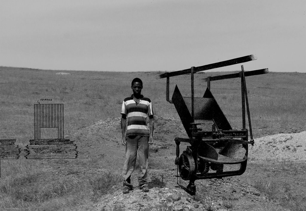 Abraham O. Oghobase, Metallurgical Practice - Miners 03, 2019, Aluminum-mounted inkjet print on matte paper, 16 x 23 in.